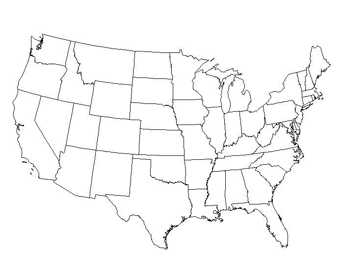 graphic about Printable Us Map Blank referred to as 2 Webpage United Says Map